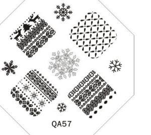 QA57 Рождество и Новый год пластина для стемпинга