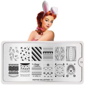 stamping, moyou festive plate, nail design, manicure, iravakula, vakula nails