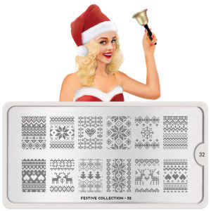 stamping, moyou festive plate, christmas nail design, new year nail design, nail art design, manicure, iravakula, vakula nails